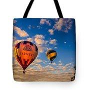 Farmer's Insurance Hot Air Ballon Tote Bag by Robert Bales