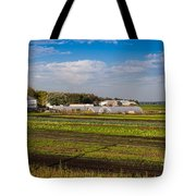 Farmer's Market And Green Fields Tote Bag