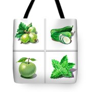 Farmers Market Gifts Green Vitamins Tote Bag