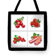 Farmers Market Gifts Red Vitamins Tote Bag