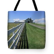 Farmhouse And Fence Tote Bag by Frank Romeo