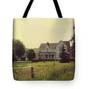 Farmhouse And Landscape Tote Bag