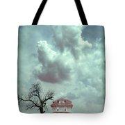 Farmhouse And Tree Tote Bag