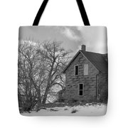 Farmhouse Black And White Tote Bag