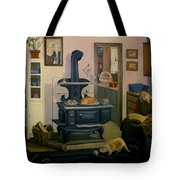 Farmhouse In Autumn 1990 Tote Bag