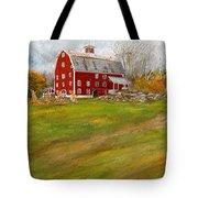 Red Barn Art- Farmhouse Inn At Robinson Farm Tote Bag