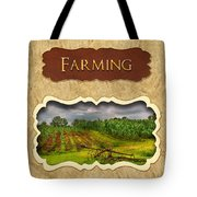 Farming And Country Life Button Tote Bag