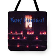 Farolitos Or Luminaria Below Window 1-2 Tote Bag