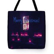 Farolitos Or Luminaria Below Window 2-2 Tote Bag