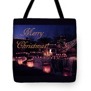 Farolitos Or Luminaria On Wall 2-2 Tote Bag