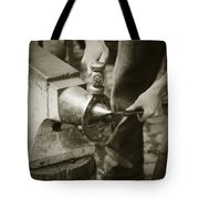 Farrier Making Horseshoe Tote Bag