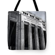 Farrington Field Facade Bw Tote Bag