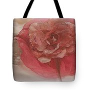 Fascinator Hats In White And Rose Tote Bag