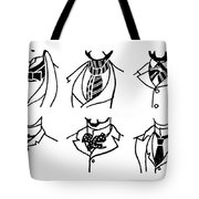Fashion Cravats And Ties Tote Bag