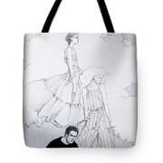 Fashion On A Hill Tote Bag by Sarah Parks