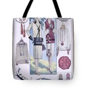 Fashion Plate, From La Femme Chic Tote Bag