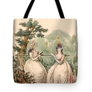Fashion Plate Of Ladies In Summer Day Tote Bag