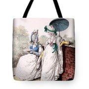 Fashion Plate Of Ladies Morning Dress Tote Bag