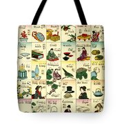 Fashionable Melange Of English Words Tote Bag