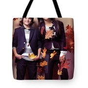 Fashionably Dressed Boy And Teenage Girl Fall Fashion Tote Bag