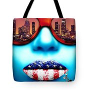Fashionista Los Angeles Silver Tote Bag