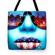 Fashionista Miami Blue Tote Bag