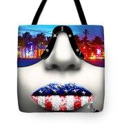 Fashionista Miami Silver Tote Bag
