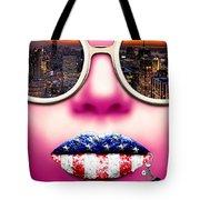 Fashionista New York Pink Tote Bag