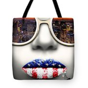 Fashionista New York Silver Tote Bag