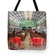 Fast Food Hall In Valladolid Tote Bag