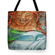Fat Cat And The Bentley Tote Bag