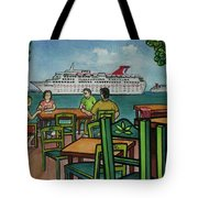 Fat Tuesdays In Cozumel Yucatan Mexico Tote Bag