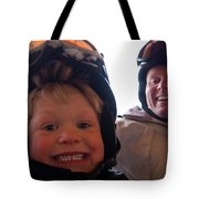 Father And Son At Big Mountain Tote Bag