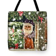 Father Christmas In The Snow Tote Bag