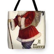 Father Christmas With A Bag Of Toys Tote Bag