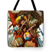 Father Christmas With Presents Tote Bag
