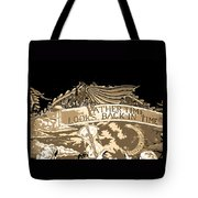 Father Time Looks Back Tote Bag