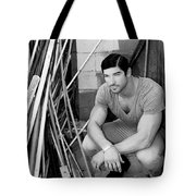 Faubourg Alley Man Bw Tote Bag