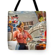 Faux 50's Drive-in Tote Bag