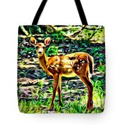 Fawn In The Woods Tote Bag