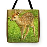Fawn Poster Image Tote Bag