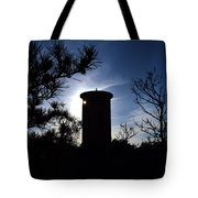 Fct1 Fire Control Tower 1 In Silhouette Tote Bag
