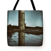 Fct3 Fire Control Tower Reflections In Sepia Tote Bag