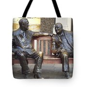 Fdr And Churchill Having A Chat In London Tote Bag