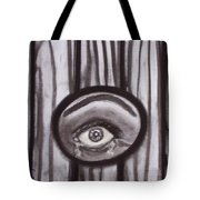 Fear - Eye Through Fence Tote Bag