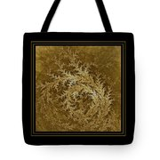 Fear Of The Forest-2 Framed Black And Gold Tote Bag
