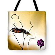 Feather And Carnation Tote Bag