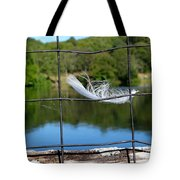 Feather And Fence Tote Bag