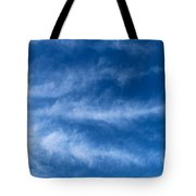 Feather Clouds On Blue Sky Tote Bag
