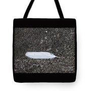 A Feather On A Beach Tote Bag